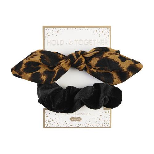 Scrunchie Set Tan Leopard