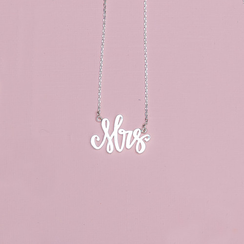 Silver Mrs. Necklace