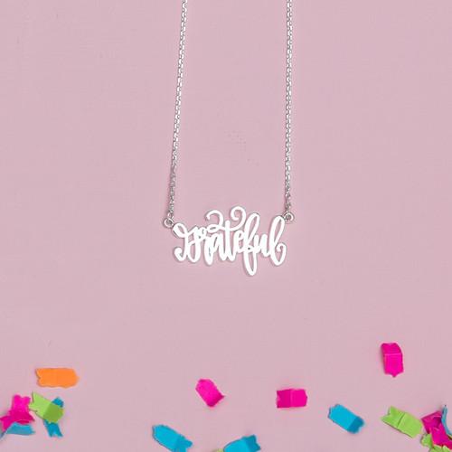 Silver Grateful Necklace