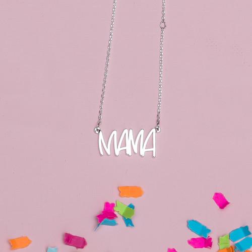 Silver Mama Necklace 2