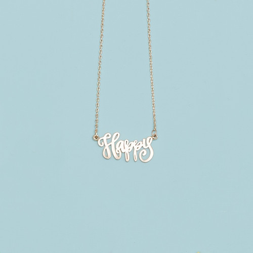 Gold Happy Necklace
