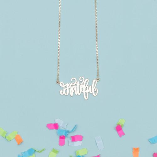 Gold Grateful Necklace