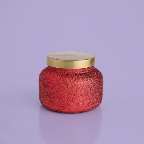 Red Glitter Volcano 19 oz Candle