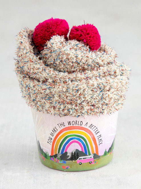 World Better Cupcake Sock Set
