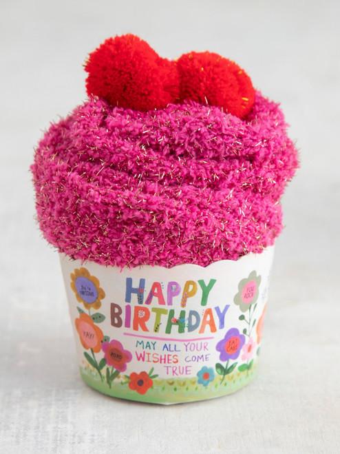 Happy Birthday Cupcake Sock Set