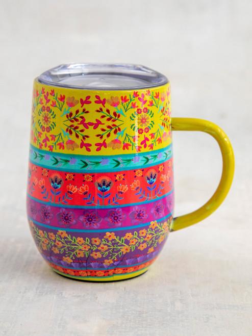 Coffee Tumbler Border Print