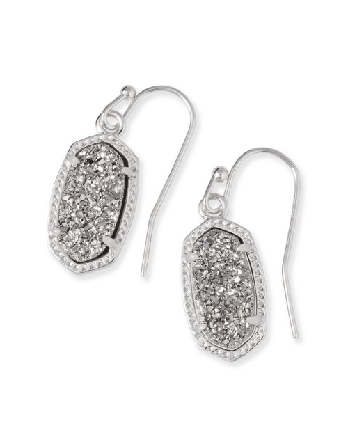 Lee Silver Earrings in Platinum Drusy