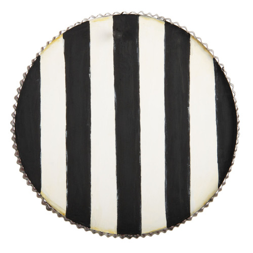 Round Black Stripe Display Board