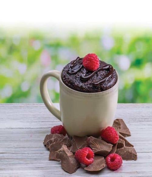Raspberry Chocolate Microwave Single