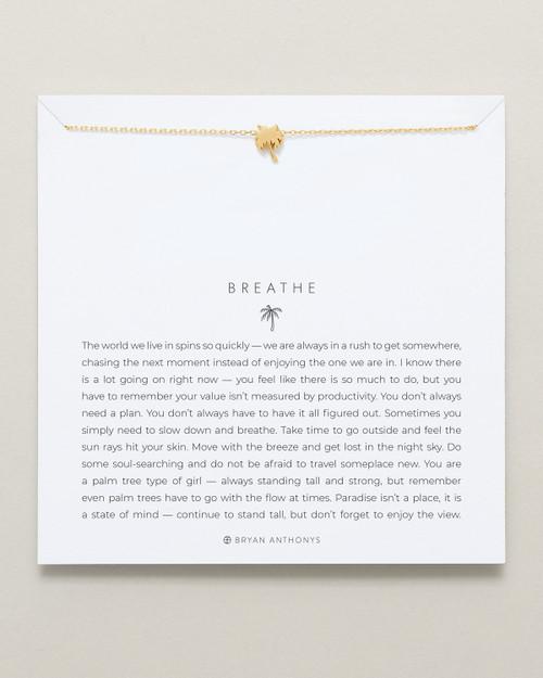 Breathe 14K Gold Necklace