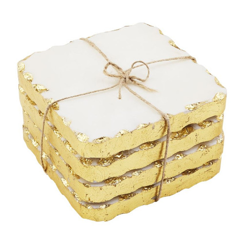Gold Marble Coaster Set