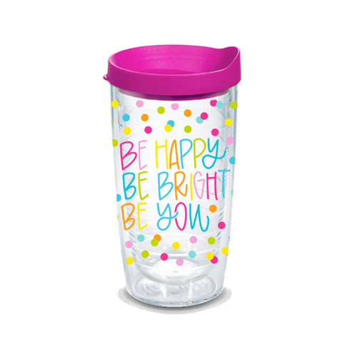 Be Happy Plastic Tumbler