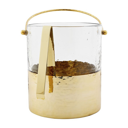 Gold Hammered Ice Bucket