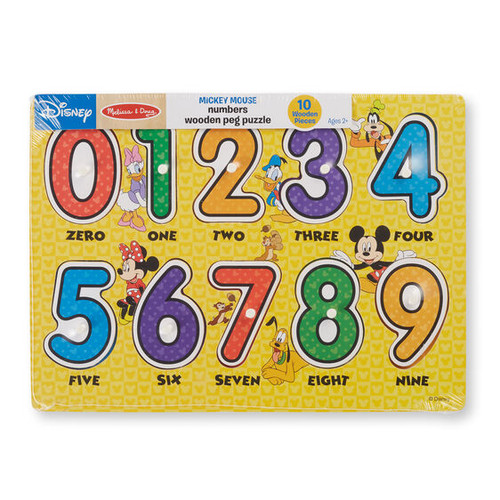 Mickey Numbers Peg Puzzle
