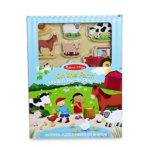 On The Farm Book & Puzzle Set
