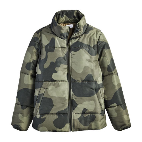 Large Camo Wade Puffer Jacket