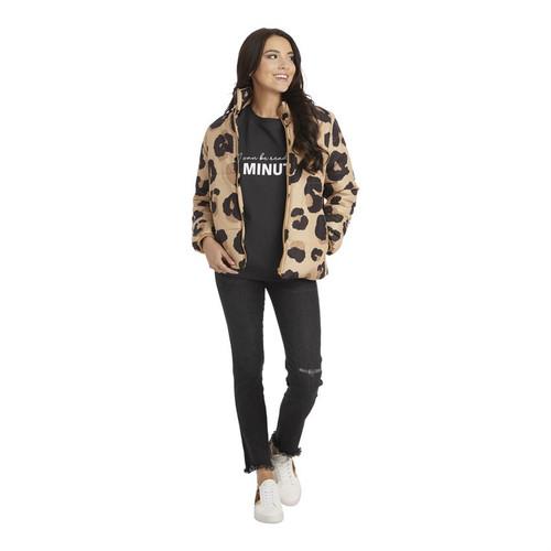 XL Leopard Wade Puffer Jacket
