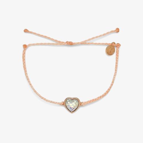 Mermaid Heart Rose Gold Blush Bracelet