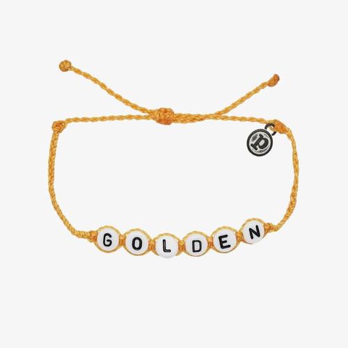 Golden Word Bracelet