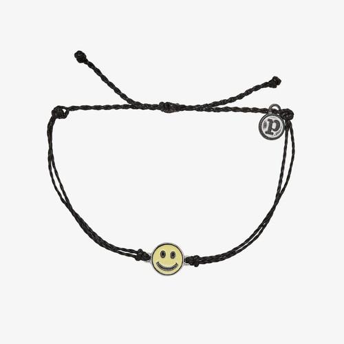 Happy Face Black Bracelet