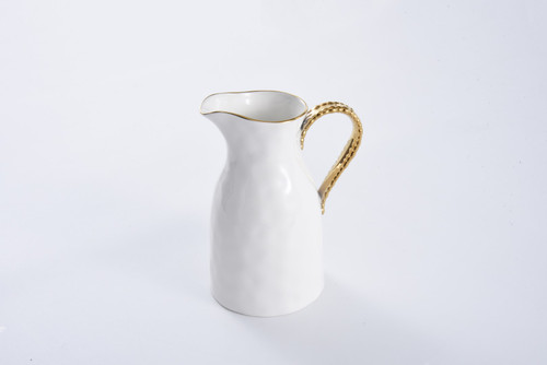 Water Pitcher White Gold