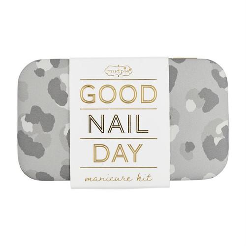 Gray Leopard Manicure Kit