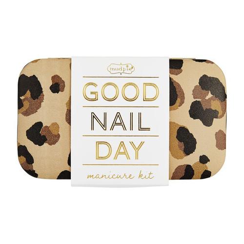 Tan Leopard Manicure Kit