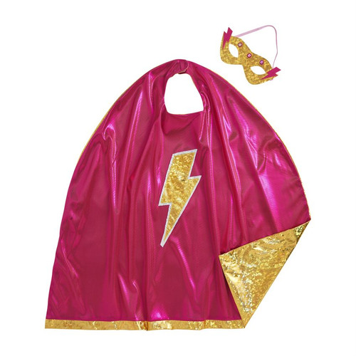 Girl Cape And Lite Up Mask Set