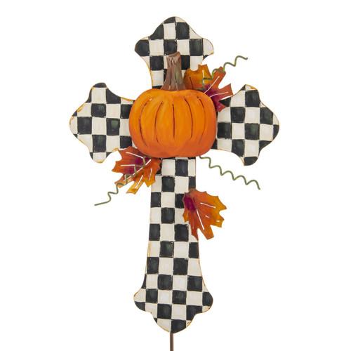 Elegant Pumpkin Cross