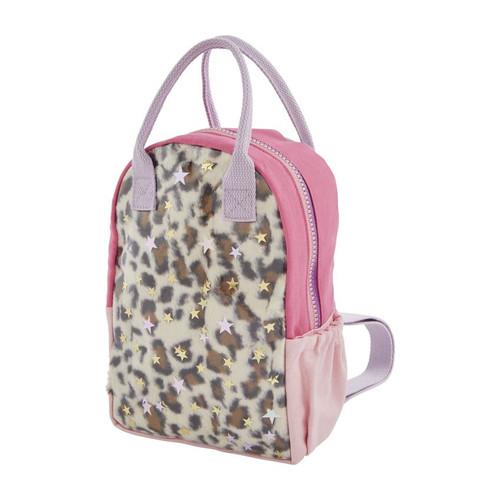 Leopard Vinyl Backpack