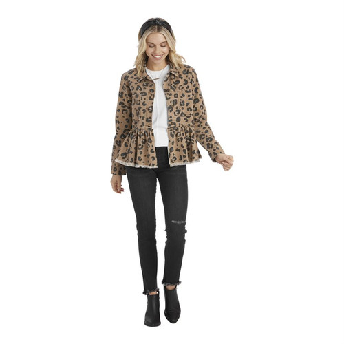 X Large Banks Jacket Leopard