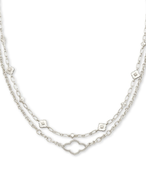 Abbie Silver Multi Stand Necklace