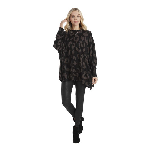 Black Adele Leopard Sweater