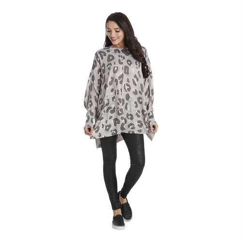 Gray Adele Leopard Sweater