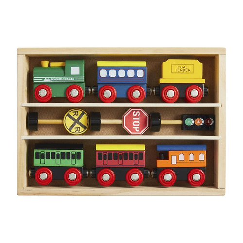 Boxed Wood Train Set