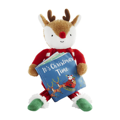 Reindeer Plush With Book