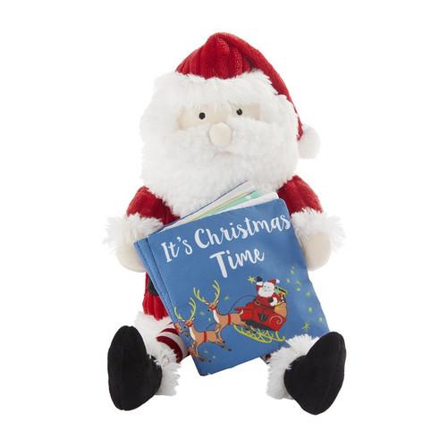 Santa Plush With Book