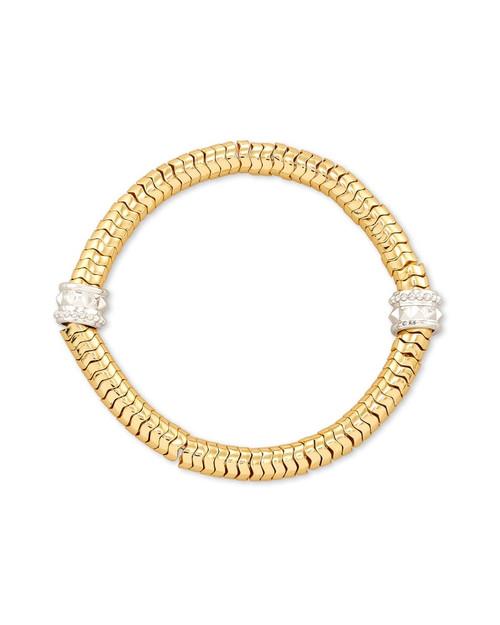 Shiva Stretch Gold Bracelet