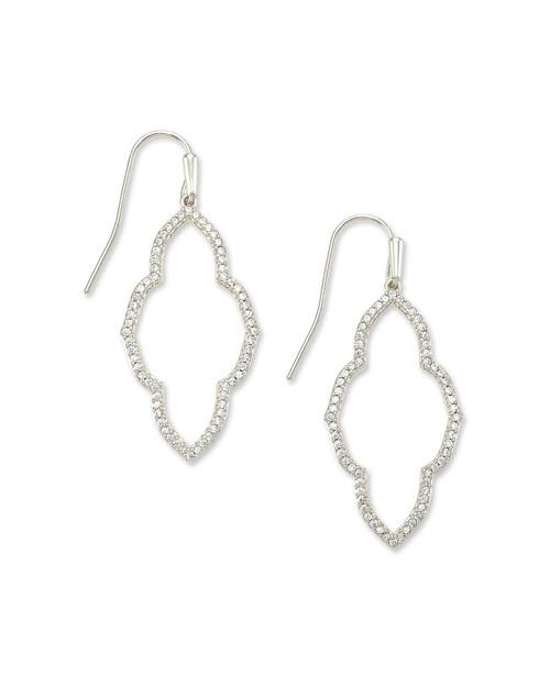 Abbie Small Silver Open Frame Earring