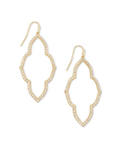Abbie Gold Open Frame Earring