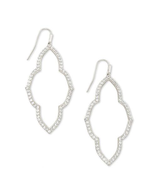 Abbie Silver Open Frame Earring