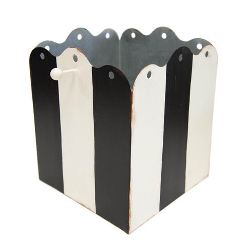 Black & White Stripe Display Planter