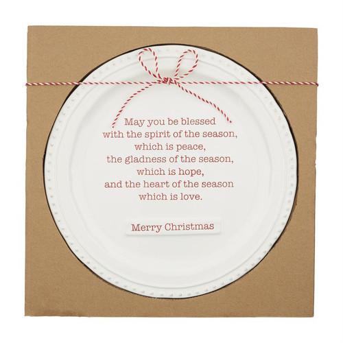 Christmas Blessing Platter