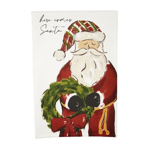 Here Comes Printed Santa Towel