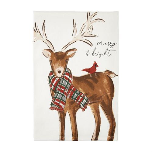 Merry Printed Santa Towel