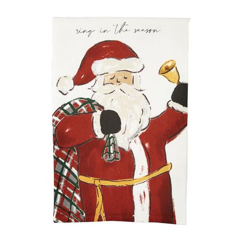 Ring In Printed Santa Towel