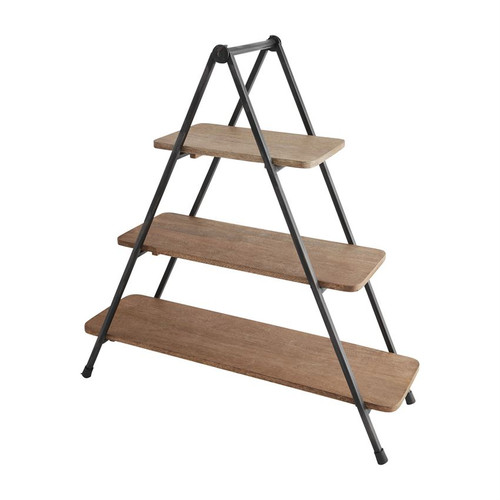 Three Tier Wood Serving Stand