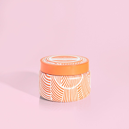 Tangerine Volcano Travel Tin