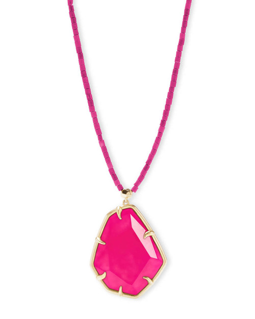 Beatrix Necklace Pink Agate
