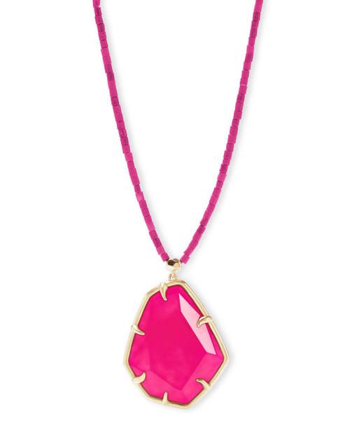 Beatrix Necklace Pink Agate